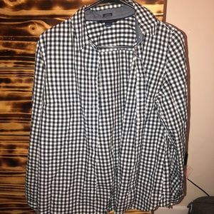 Tommy Hilfiger Blue and White Checkered Flannel